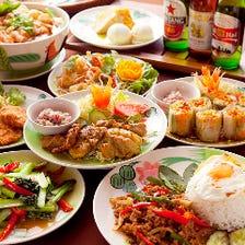 2つの国のエスニック料理を食べ比べ