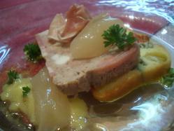☆お肉のテリーヌとアスピックゼリーと旬野菜のディップ
