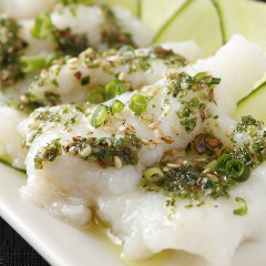 鮮魚の四川風冷菜