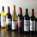 北海道の料理と相性の良いワインを豊富に取り揃えております!