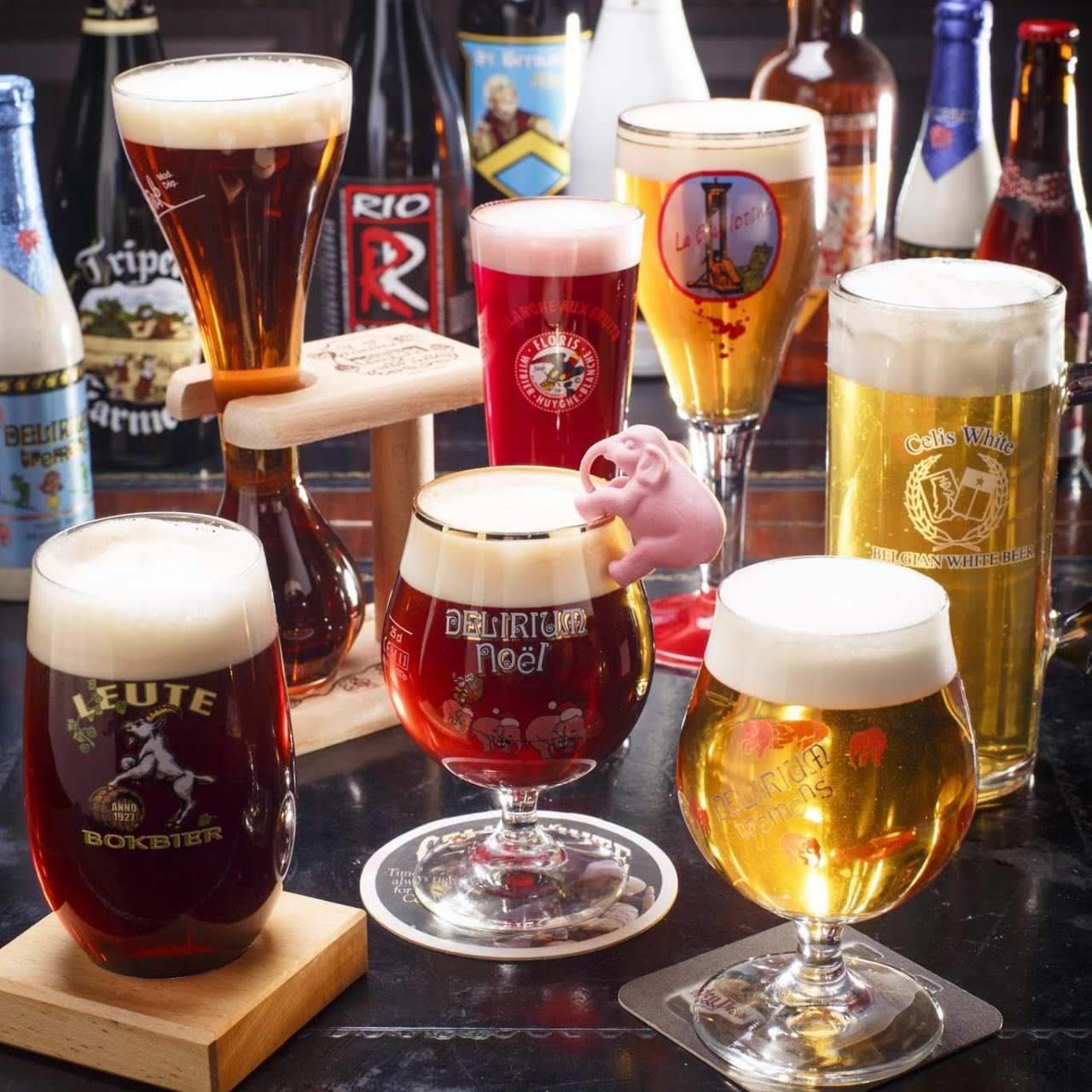 ベルギークラフトビールの飲み放題も