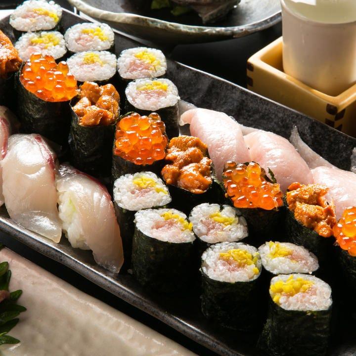 新鮮素材で職人が握る江戸前寿司