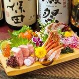 市場直送の鮮魚がコースでも単品料理でもお楽しみいただけます。
