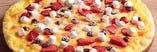 イチゴとチョコのデザートピザ