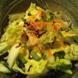 その日の仕入れで、新鮮野菜の塩こぶ和え!