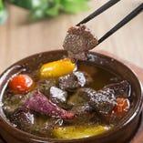 アヒージョ 牛タン&野菜