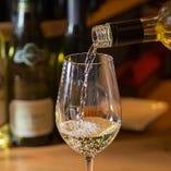 【相性◎なワイン】 料理や好みに合わせてご紹介いたします