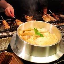 注文いただいてから炊く「鶏の釜飯」