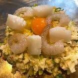 【お好み焼き】海鮮(エビ・イカ)ブタバラセット
