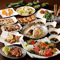 【2時間飲み放題付】名物料理を贅沢に味わう!お料理10品 檜コース