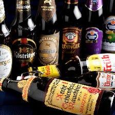 ビールの品揃え&ソムリエ厳選ワイン
