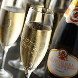 ★パーティーコースはスパークリングワインが飲み放題!!★