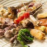 こだわりの魚・肉・野菜の串はお酒と相性抜群です♪