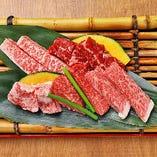 本日の一光盛りで極上の霜降り肉の食べ比べをご満喫いただけます
