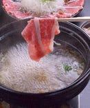 桜肉の出汁しゃぶ