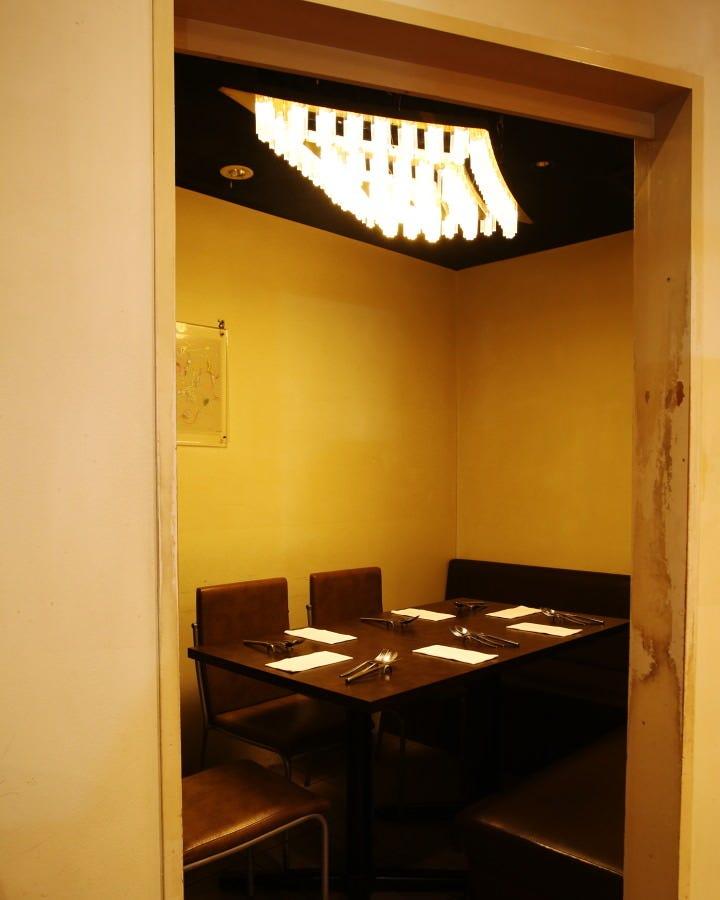個室完備。ミーティングやランチに。