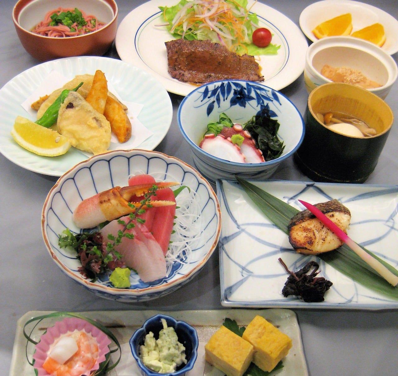 【豪華宴会】懐石7品+鍋コース 3時間飲み放題付 7500円(税込)各種ご宴会