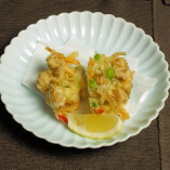 夏野菜とホンビノス貝のかき揚げ
