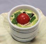小鉢  トマト風味の茶碗蒸し