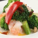 海老と野菜のXO醤炒め