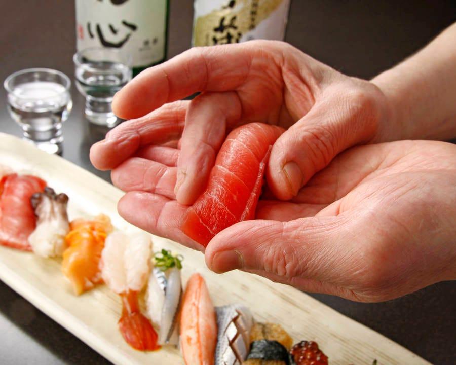新鮮魚介の握り寿司
