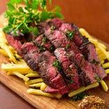 炭焼きハラミステーキとトリュフポテト