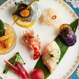 季節食材を使用したコースは日常のお食事から記念日まで対応◎