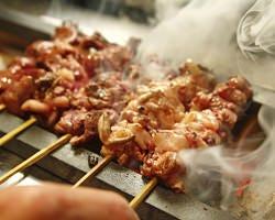 山梨県産健美鶏を使用! こだわりの絶品焼き鳥!