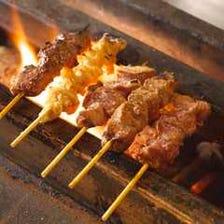 炭火でじっくり焼いた串焼き