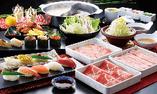 【寿司・豚しゃぶしゃぶ食べ放題コース】