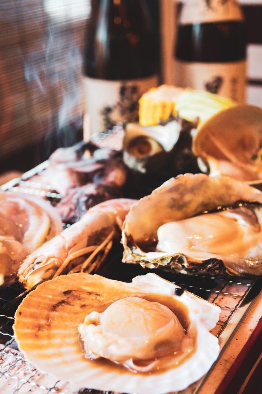 海鮮BBQセット♪1980円~
