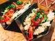 『あて寿司』酒のアテに食べられる手巻き寿司。炙り霜降り和牛。