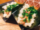 『あて寿司』肉のツナマヨ。北斎でツナ=マグロではありません。