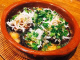 しらすと干し椎茸のアヒージョ。自家製煮干しオイルのアヒージョ