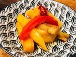 野菜の醤油漬けピクルス