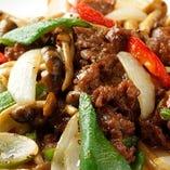 5】牛肉の黒胡椒炒め