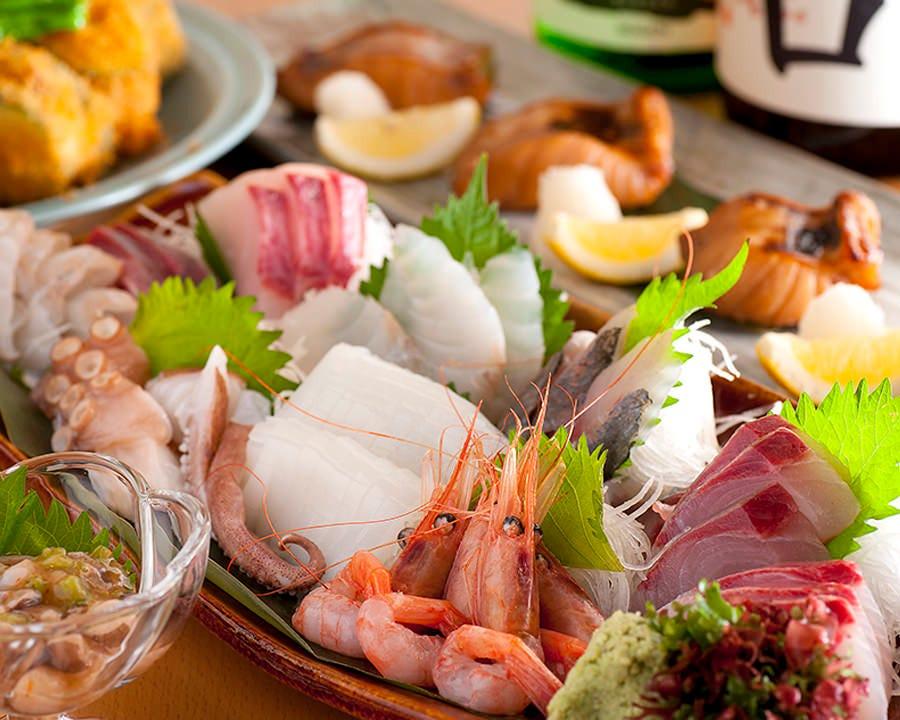 日本海の幸を使った季節メニュー