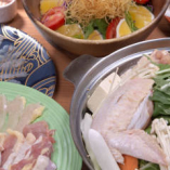 地どり料理やお造り、お鍋を楽しむ飲み放題付きコース4,950円〜