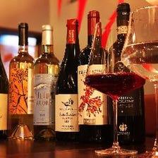 グラスワインは20種類以上☆