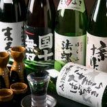 北海道の日本酒も多数。なんと飲み放題でもご提供中です!