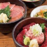 ねぎとろマグロ二色小丼 / びんちょうマグロ小丼【静岡県】