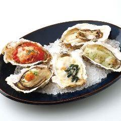 焼き牡蠣3種盛り合わせ