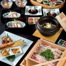 四季模様を表す伝統の和食をコースで