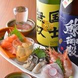 海鮮盛合せ 毎日直送!鮮度抜群!相性ぴったりの北海道地酒とご一緒にどうぞ♪
