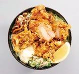 知床鶏ザンギ 葱タレ丼