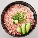 十勝清水町の牛トロ丼 1400円(ランチタイム:税込/ディナータイム:税別)