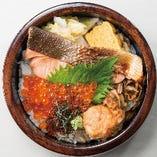 北海丼1300円(ランチタイム:税込/ディナータイム:税別)