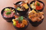 北海道産 食材を使用した丼ものを全15種類 900円よりございます