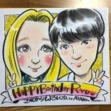 ◆似顔絵はメッセージも入ります!プレゼントにピッタリ!◆