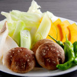 季節の美味しさ!焼き野菜をどうぞ
